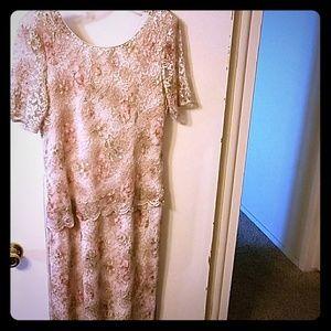 Long formal lace dress